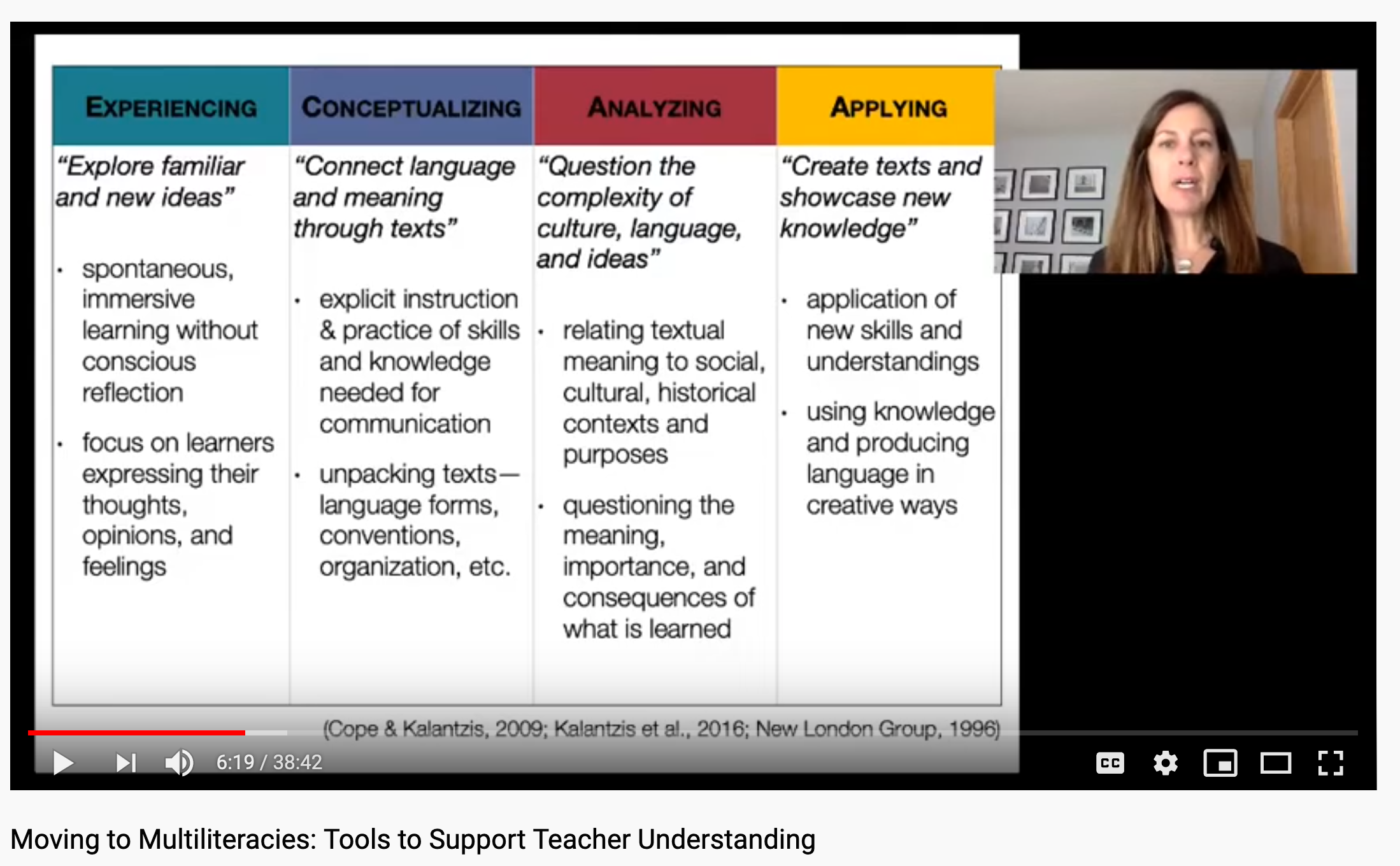 screenshot of literacies video