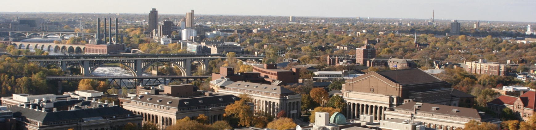 U of MN campus view from above