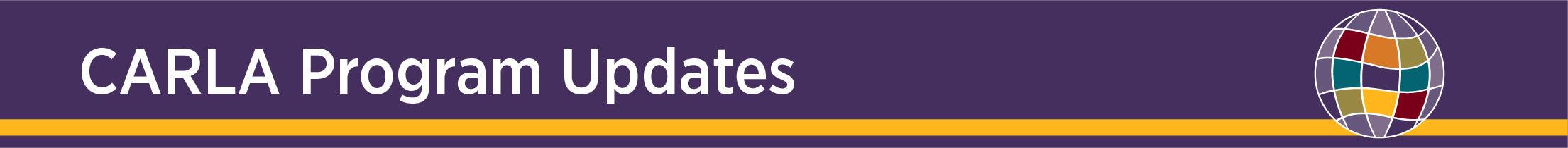 Program Updates - section header