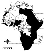 Francophone Africa Map.The Center For Advanced Research On Language Acquisition Carla