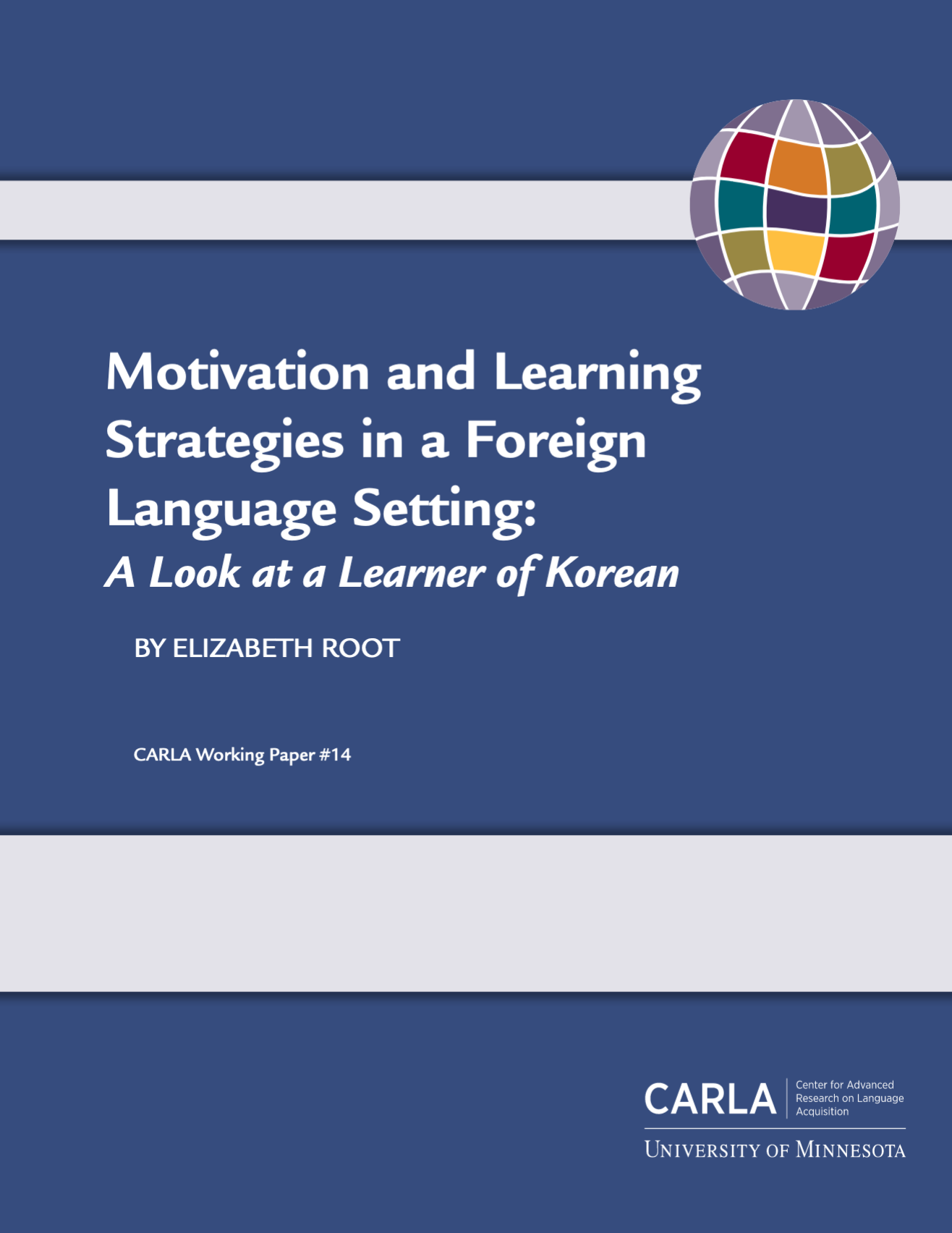 Motivation and Learning Strategies: Korean