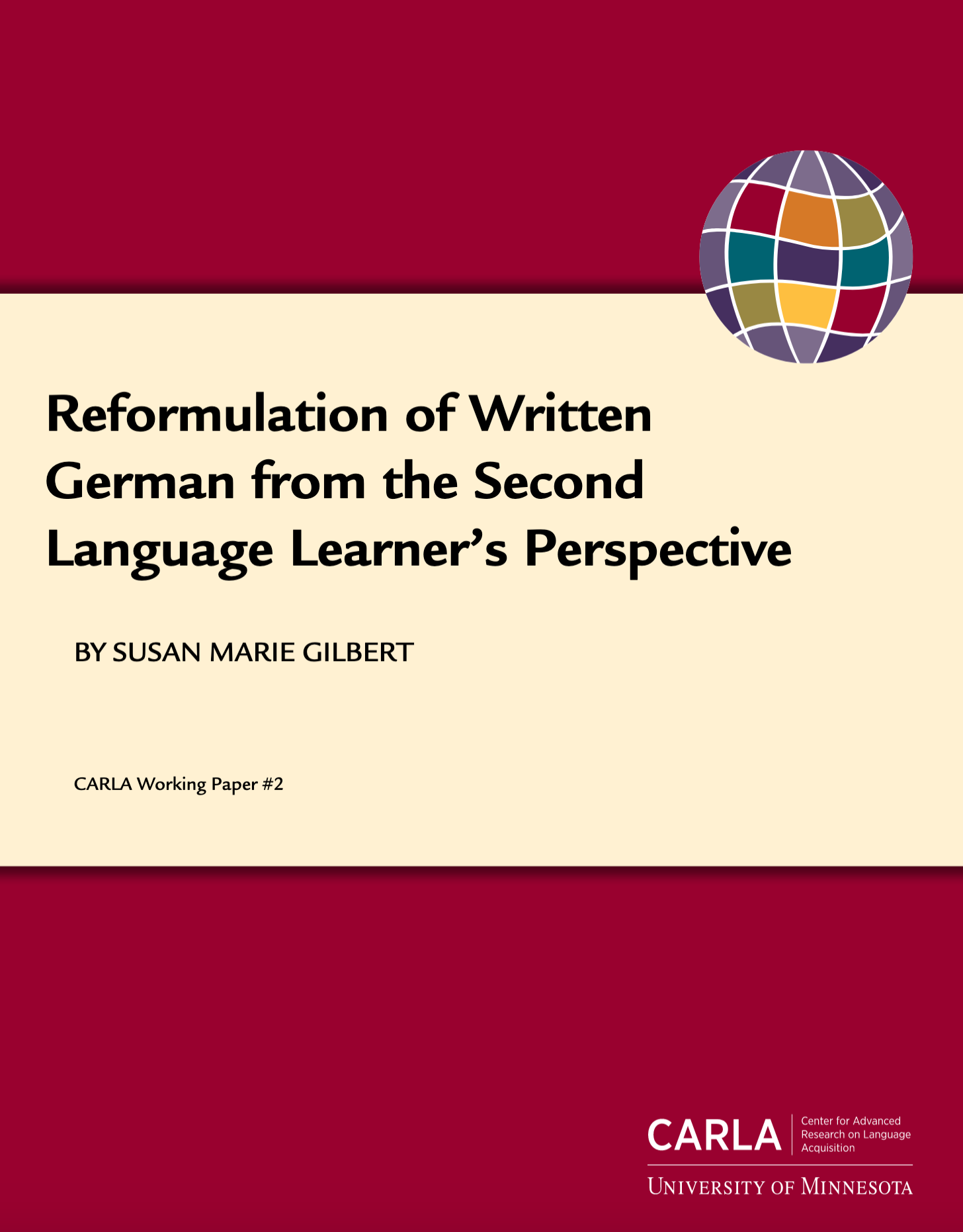 Reformulation of Written German From the Second Language Learner's Perspective