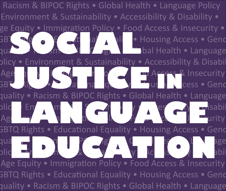 Social Justice in Language Education (logo)